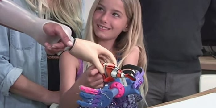 How a 3-D Printer Just Gave This Little Girl an Awesome, New Prosthetic Hand