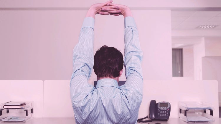 Stuck at Your Desk? Give These Stretches a Try. (Infographic)