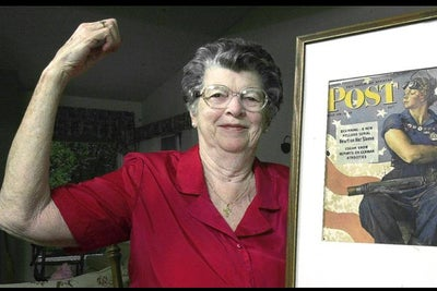The Model for Norman Rockwell's Iconic 'Rosie the Riveter' Painting Ha...