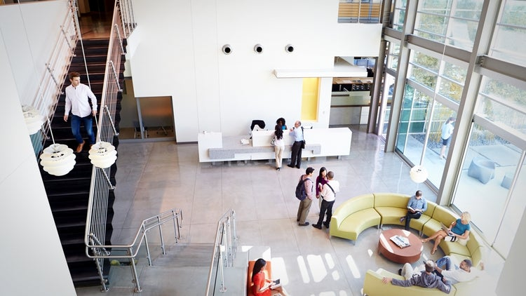 6 office space ideas for the frugal entrepreneur for Well designed office spaces