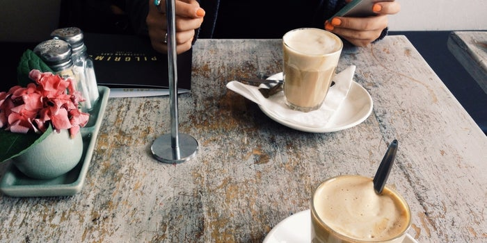 Brewing business over a cup of coffee