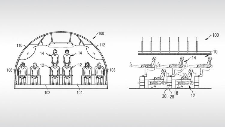 Airbus Files Patent That Shows Airplane Passengers Stacked On Top of Each Other