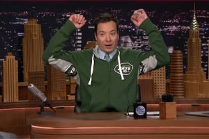 Jimmy Fallon Debuts New 'Super Fan' Sportswear Line