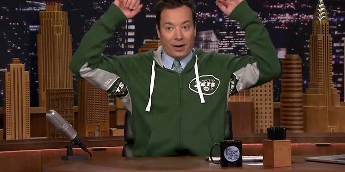 Jimmy Fallon Debuts New 'Super Fan' Sportswear Line