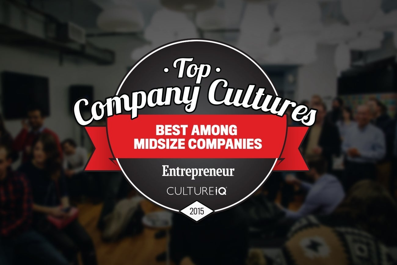 The 25 Best Medium-Sized Company Cultures in 2015 #TopCultures