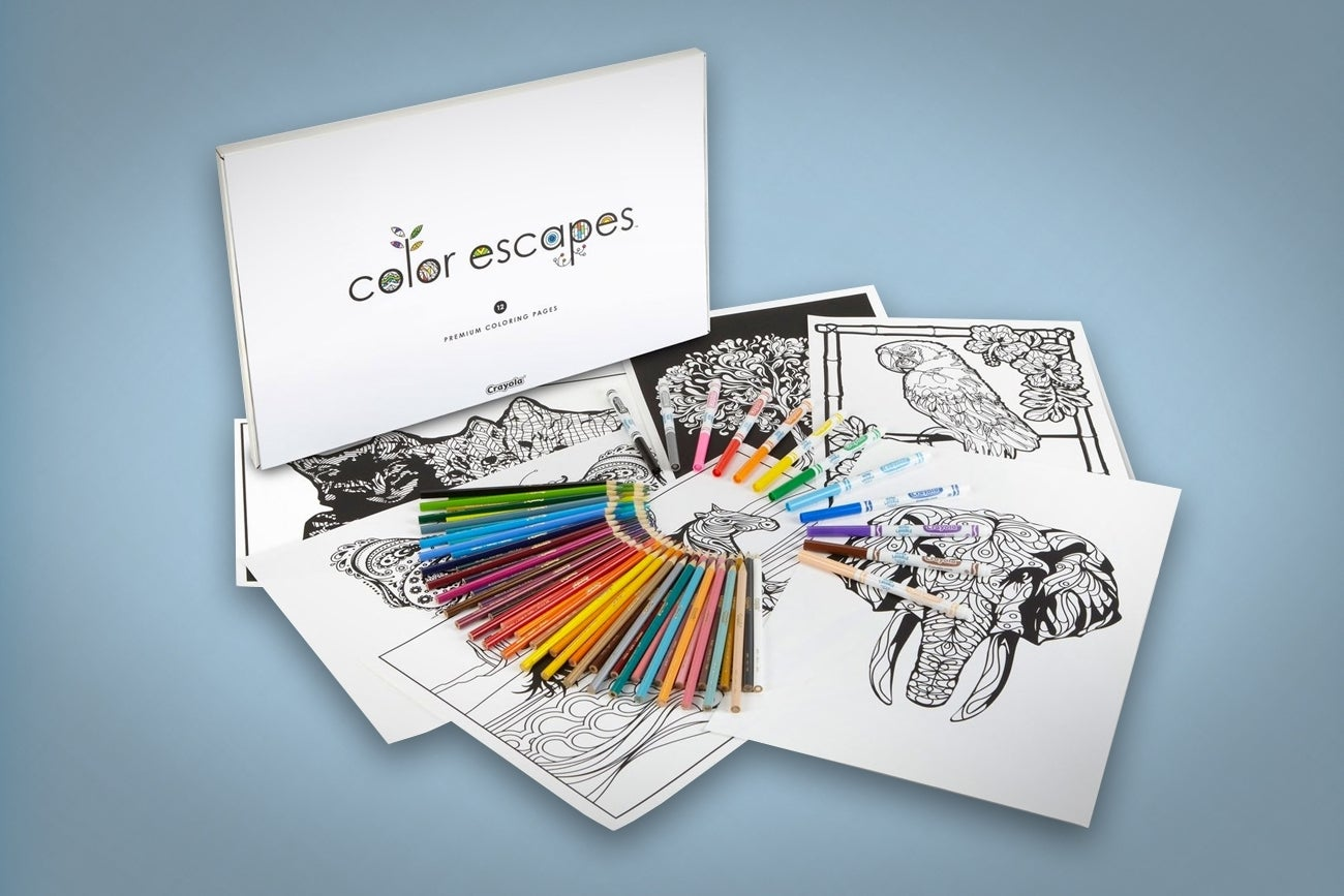 Crayola Launches A Line Of Coloring Books For Adults