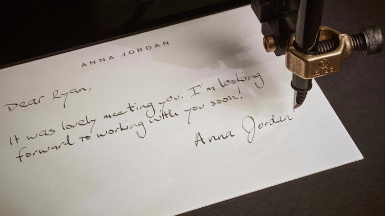 With This Startup, a Handwritten Thank You Note Is a Click Away