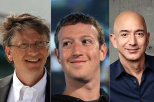 Entrepreneurs Rank High Among the 50 Wealthiest People in the World
