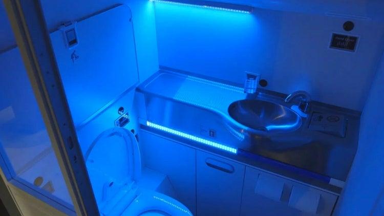 Germaphobes, Rejoice! Boeing Creates Airplane Bathroom That Cleans Itself.