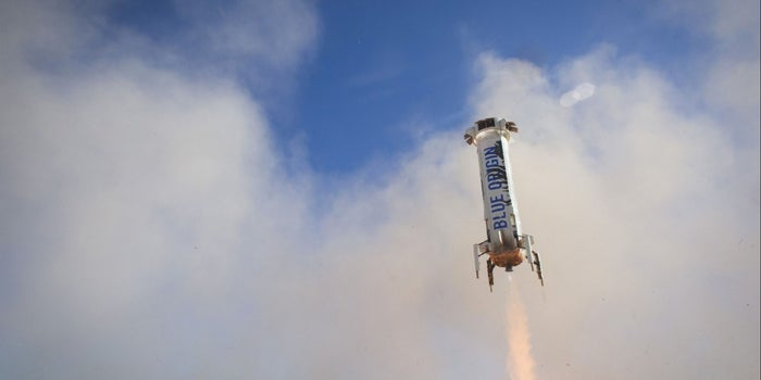 Bezos Praises Third Blue Origin Launch-and-Land Rocket Test as 'Perfect'
