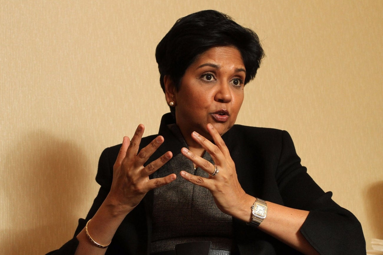 entrepreunership of indra nooyi Bsc, madras christian college mba, indian institute of management, calcutta  master's in public and private management, yale university began career in.
