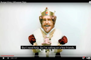 Burger King's Mascot Speaks -- in Sign Language. Start Up Your Day Roundup