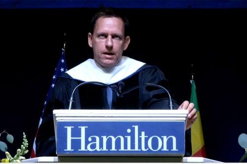 Peter Thiel Commencement Speech, Hamilton College, May 2016 (Transcript)