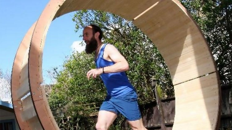 This English Man Ran for 24 Hours in a Giant Hamster Wheel. How Did You Spend Your Weekend?