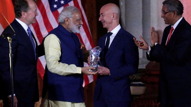 Bezos Says Amazon to Up India Investment to $5 Billion