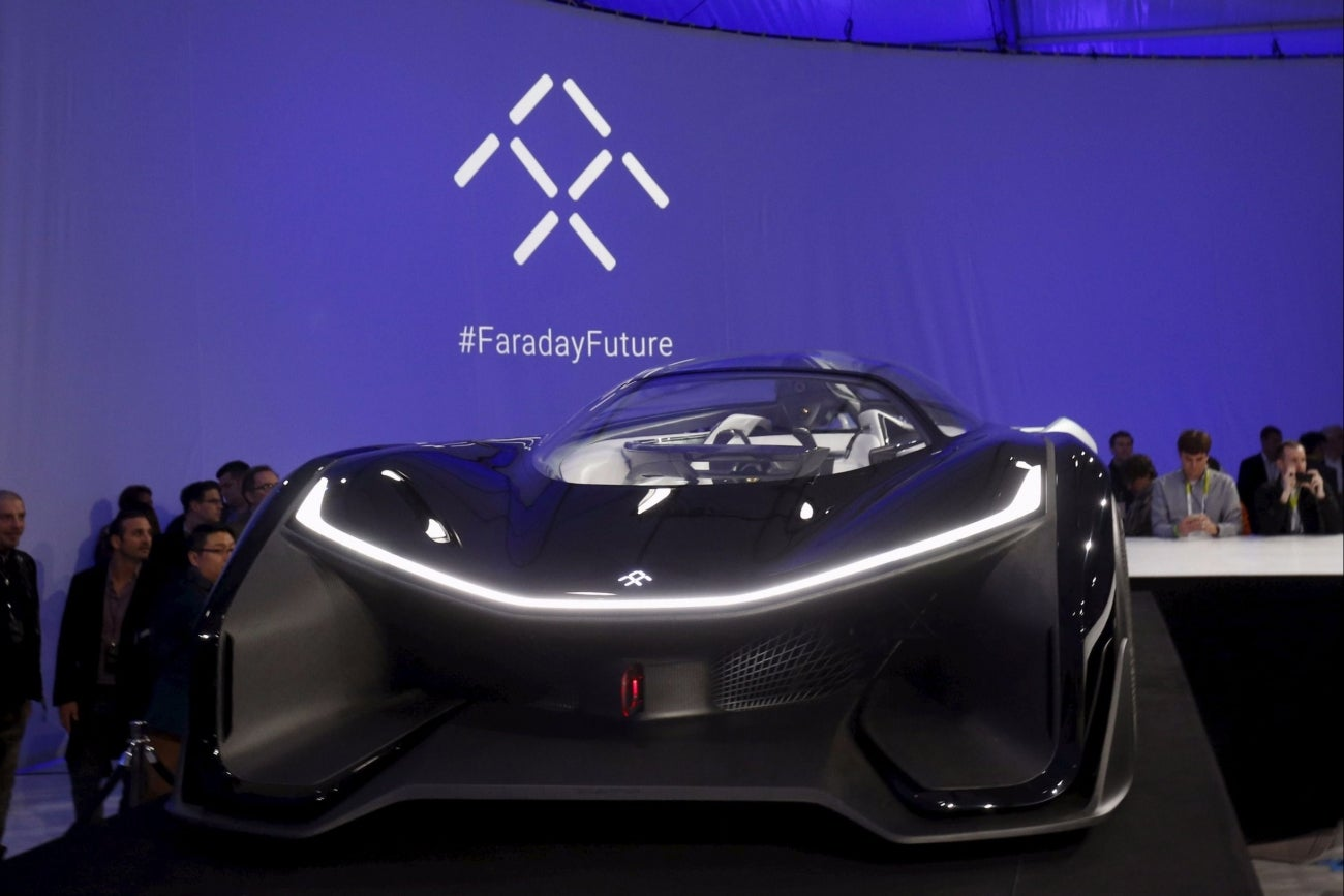 Tesla Rival Faraday Approved To Test Self Driving Cars On