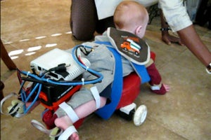 With Robotic Exoskeleton, Scientists Teach Kids to Crawl