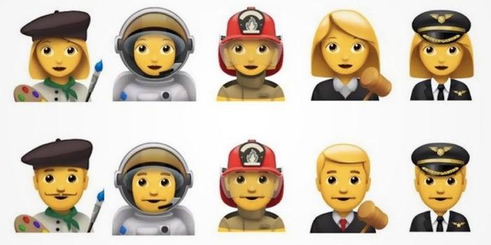 Apple Proposes 5 New Emoji Professions