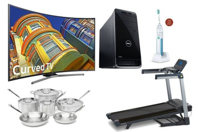 Save Big on This 55-Inch 4K Samsung Curved TV, Folding Treadmill and M...