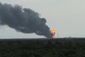 SpaceX Falcon 9 Rocket Explodes During Test Firing in Florida