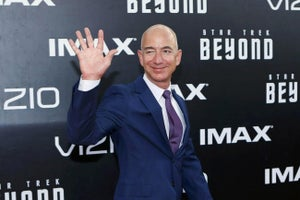 Jeff Bezos Unveils New Rocket to Compete With SpaceX