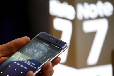 Samsung Halts Note 7 Production After New Fire Scare
