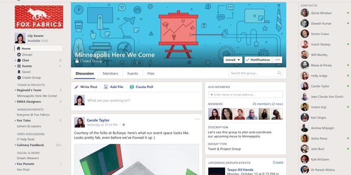 Facebook presenta app para trabajar en equipo