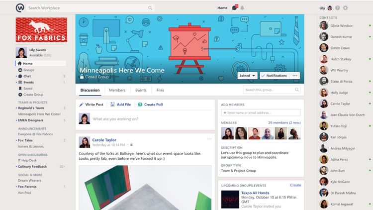 Facebook presenta app para trabajar en equipo - Trabajar en facebook espana ...
