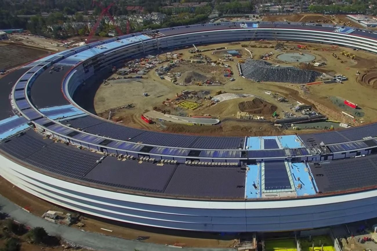 check out this amazing drone footage of apples future campus apple new office design