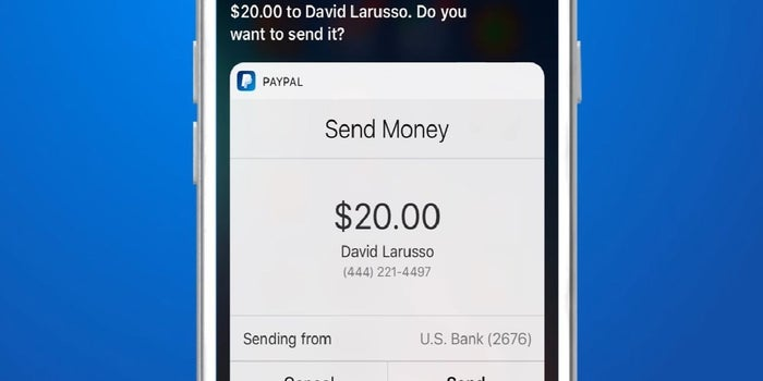 Now Use Your Voice To Send And Request Money