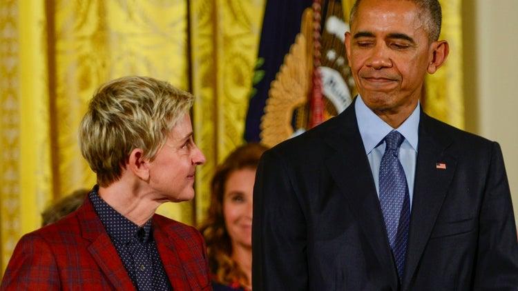 Watch Ellen DeGeneres's Epic Mannequin Challenge at The White House