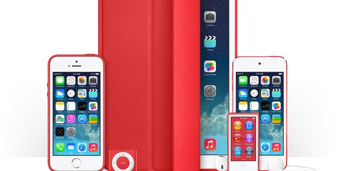 Apple estrena accesorios rojos por la lucha contra el SIDA