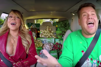 Watch Who Shows Up on 'All I Want For Christmas' All-Star Carpool Karo...