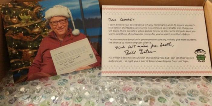 Bill Gates, el amigo secreto de Navidad de una usuaria de Reddit