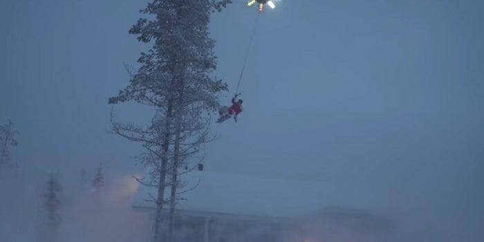 Watch YouTube Star Casey Neistat Ride a Drone Dressed As Santa