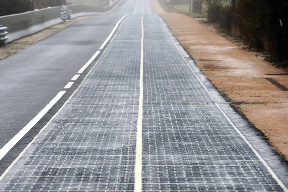 You Could Fly to France on Solar Powered Plane Then Drive on a Solar Panel Road