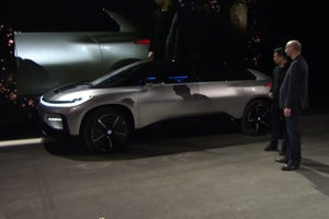 Execs Keep Cool When Faraday Future Parking Demo Fails at CES