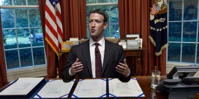¿Mark Zuckerberg será presidente en 2020?