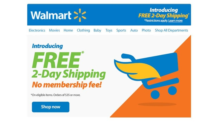 Wal-Mart Ditches Amazon Prime-Like Service, Reduces Free 2-Day Shipping Requirements