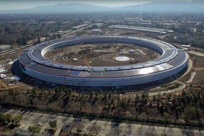Check Out This Video of Apple's New Futuristic Campus, Shot by a Drone