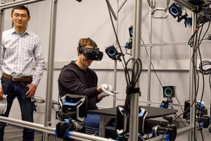 Mark Zuckerberg Tries Out Virtual Reality Gloves