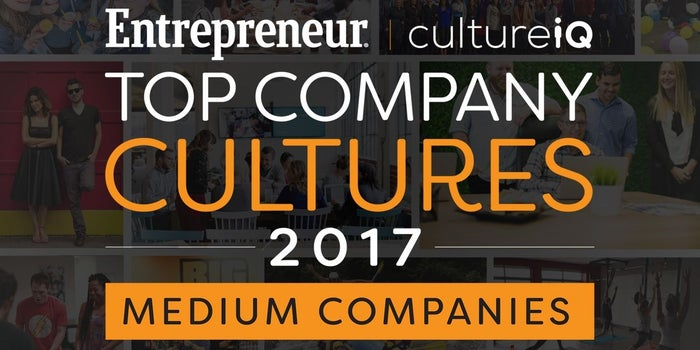 Medium-Sized Companies: The Best Company Cultures in 2017