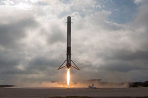 Watch Elon Musk's View of the SpaceX Falcon 9 Rocket Landing