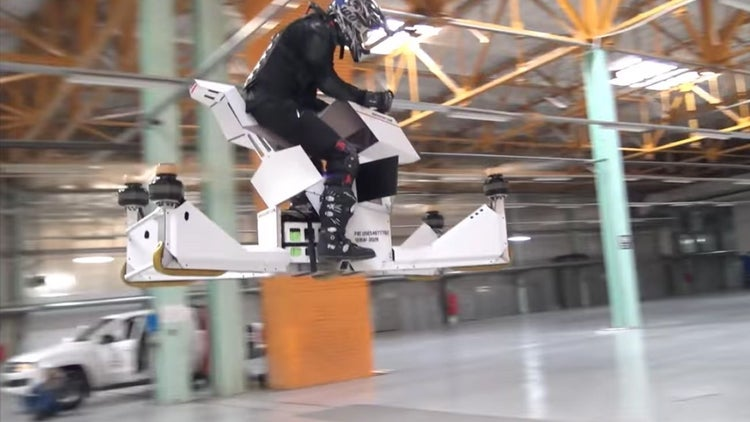 Watch This Hoverbike Go for a Gloriously Scary Ride