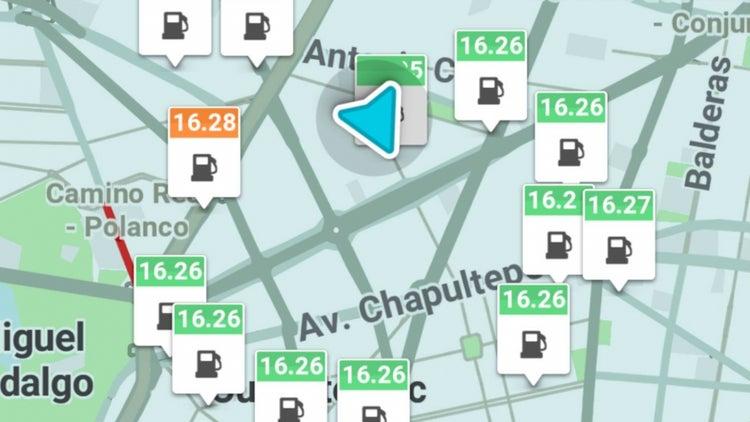 Waze te dirá los precios de la gasolina