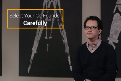 Select Your Co-Founder Carefully