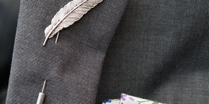 The Executive Selection: BOXKnocks Feather Lapel Pin