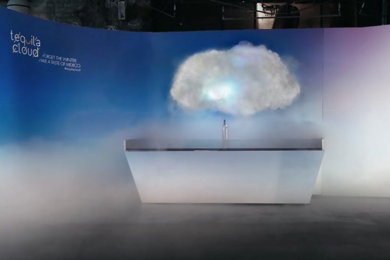 Ad Company Creates Working Tequila Cloud