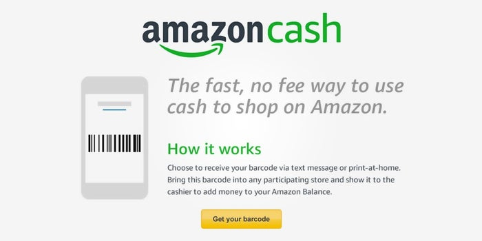 No Credit Card? Pay With Amazon Cash.