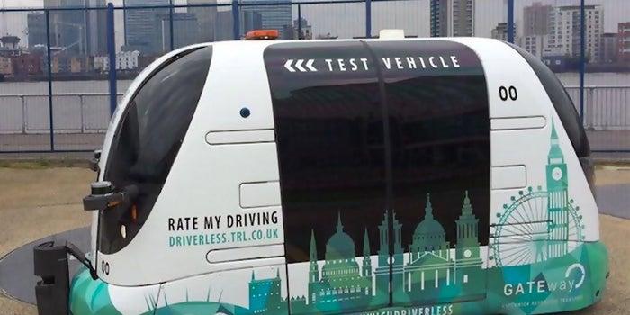 Driverless Shuttle Buses Arrive in London